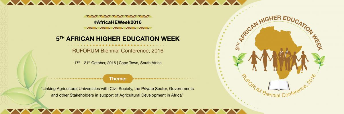 Fifth African Higher Education Week and RUFORUM Biennial Conference 2016