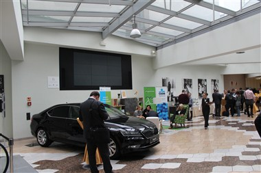 Conference foyer - car display event