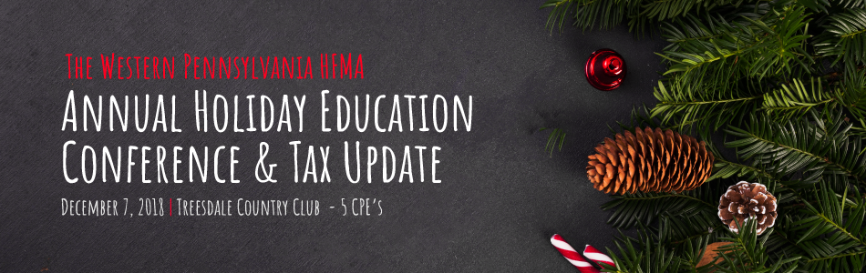 WESTERN PA HFMA Annual Holiday Education Conference & Tax Update