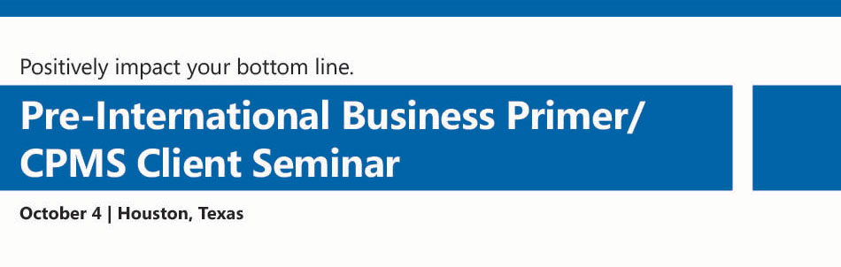 International Seminar Business Primer/CPMS Annual Seminar