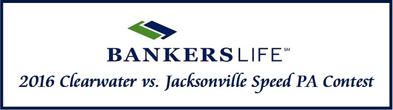 Bankers Clearwater vs. Jacksonville Speed PA Contest Incentive Trip