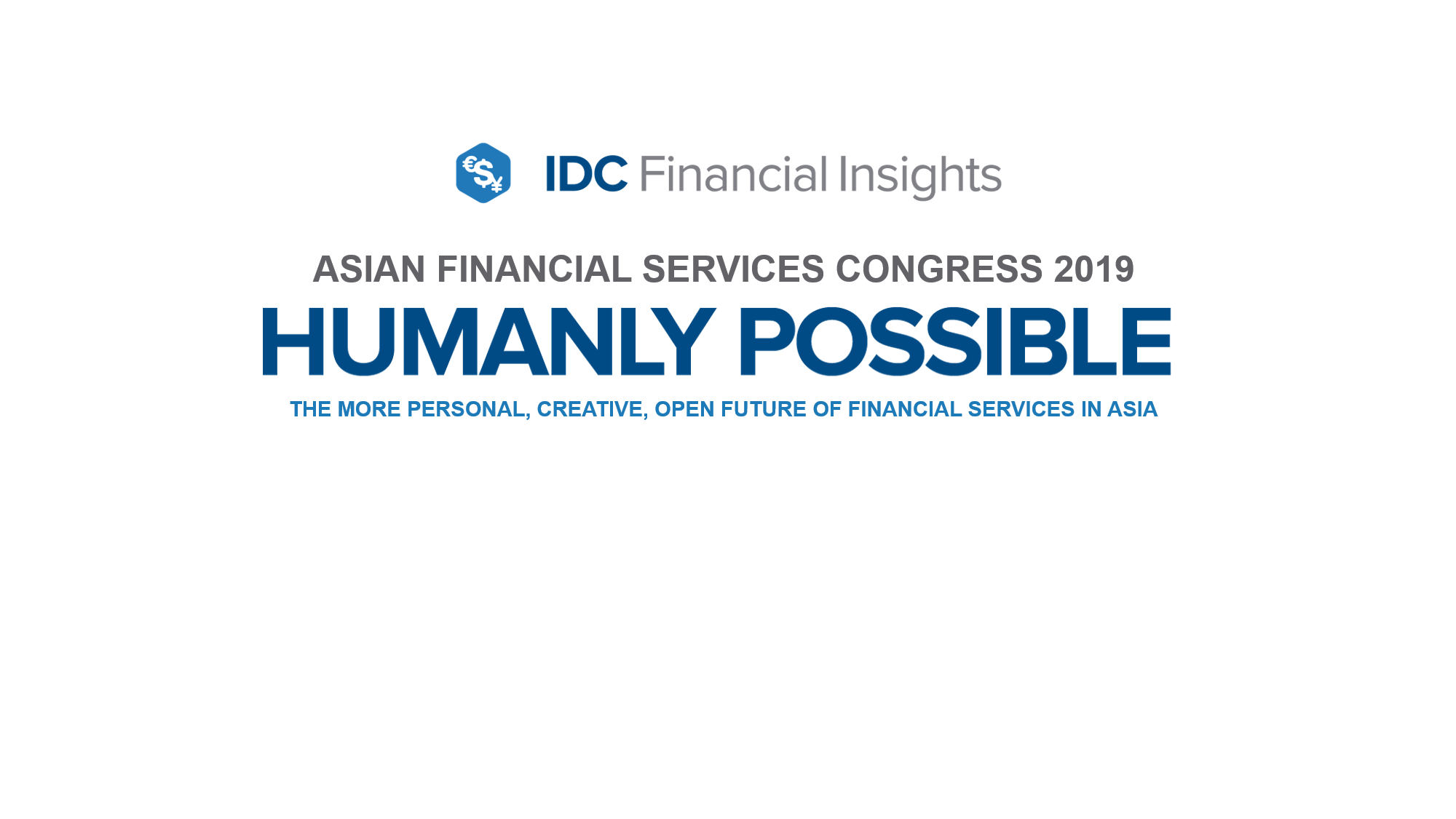 ASIAN FINANCIAL SERVICES CONGRESS 2019