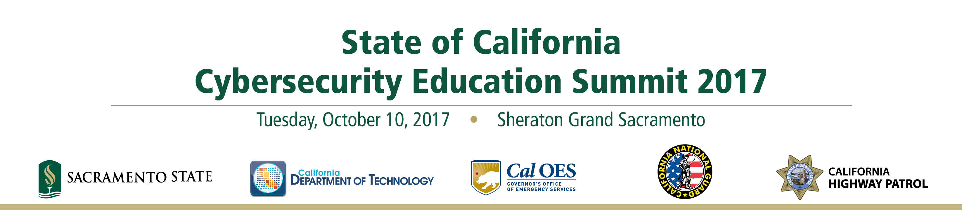 State of California Cybersecurity Education Summit 2017