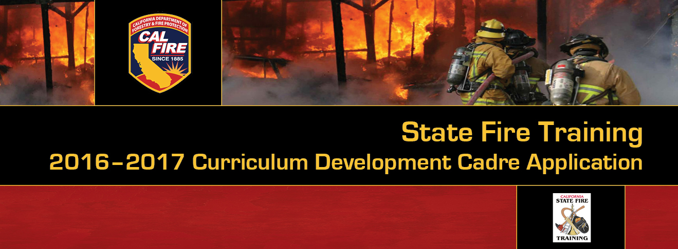 2016-2017 State Fire Training - Curriculum Development Cadre Application