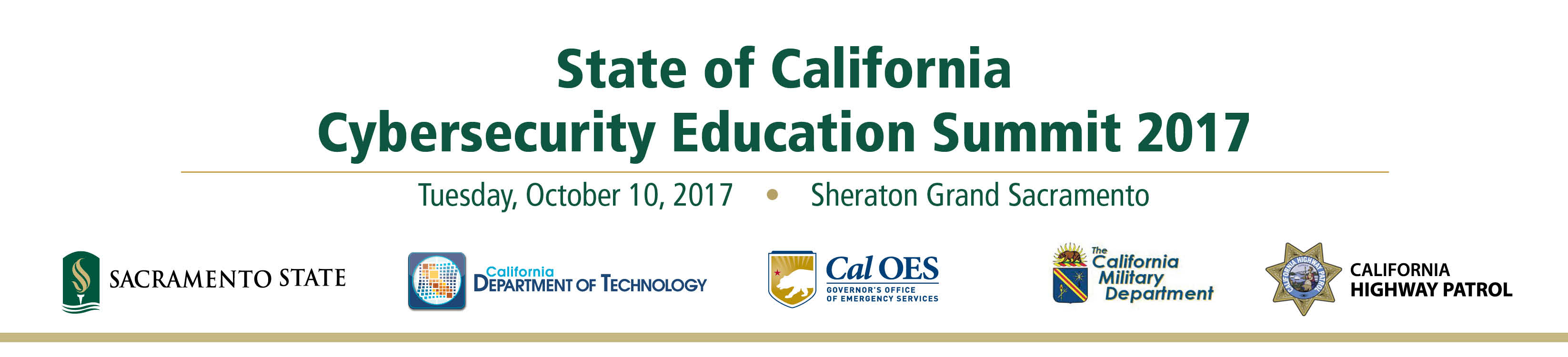 State of California Cybersecurity Education Summit 2017 - Sponsorships