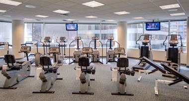 Fitness Room at Hotel Room at the Wyndham Chicago