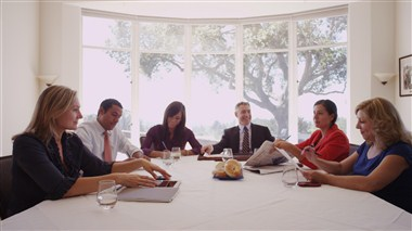 Meeting at Conference Table