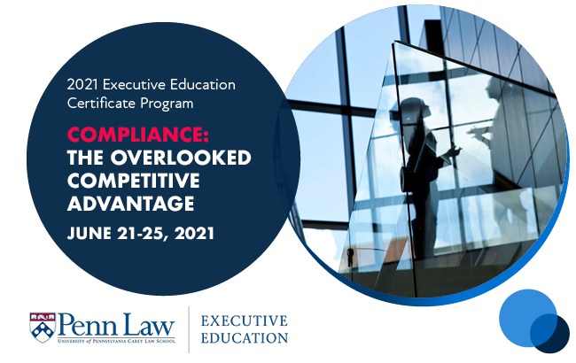 2021 Compliance: The Overlooked Competitive Advantage – Application