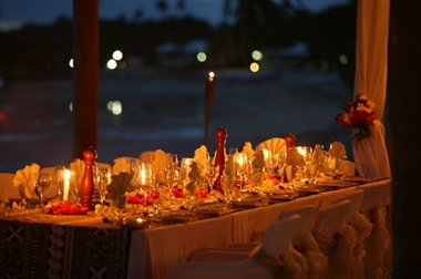 Private beachside function setting