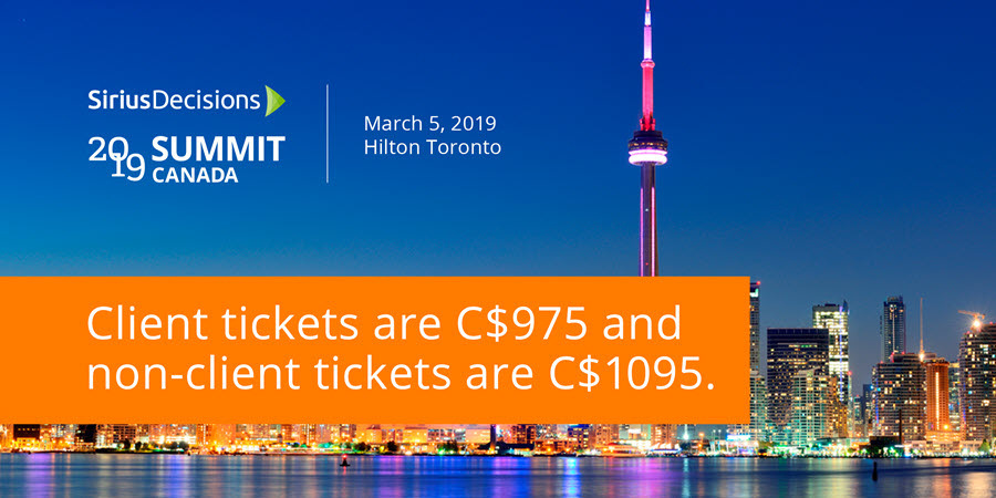 SiriusDecisions 2019 Summit Canada