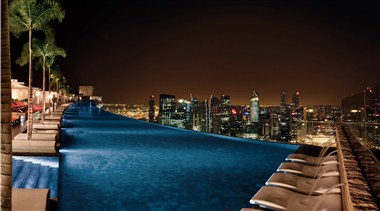 Sands Skypark Infinity Pool- Night View