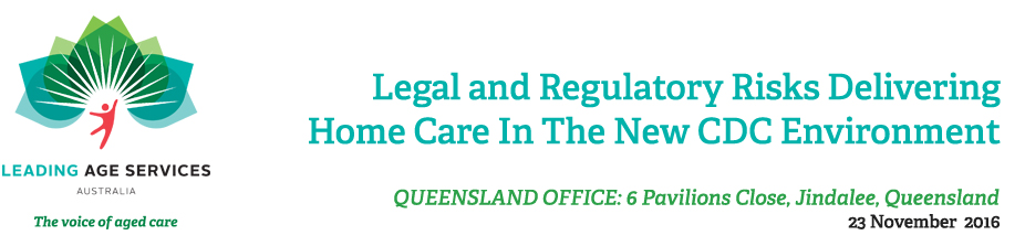 Legal and Regulatory Risks Delivering Home Care in the New CDC Environment