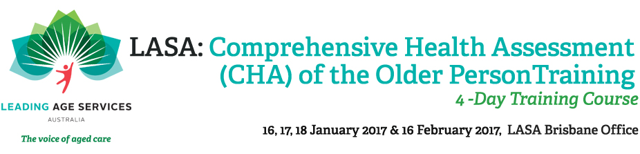 Comprehensive Health Assessment of the Older Person 4 Day Course (QLD)