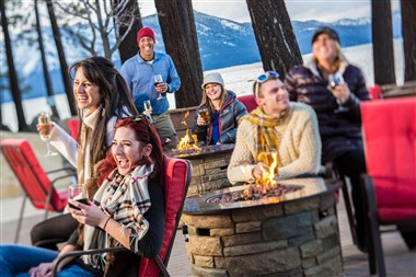 Enjoy the company of friends around our fire pits