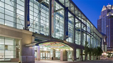 RI Convention Center at Night