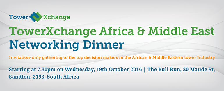 TowerXchange Meetup Africa and ME Networking Dinner 2016