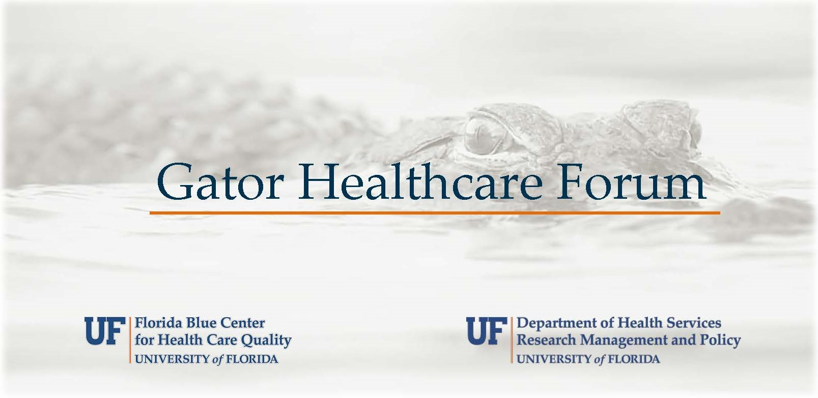 Gator Healthcare Forum 2017
