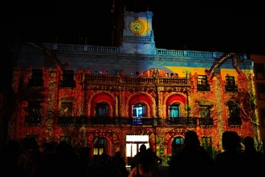Leon Municipal Palace at Night