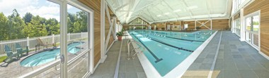 Indoor Pool and hot tubs panoramic