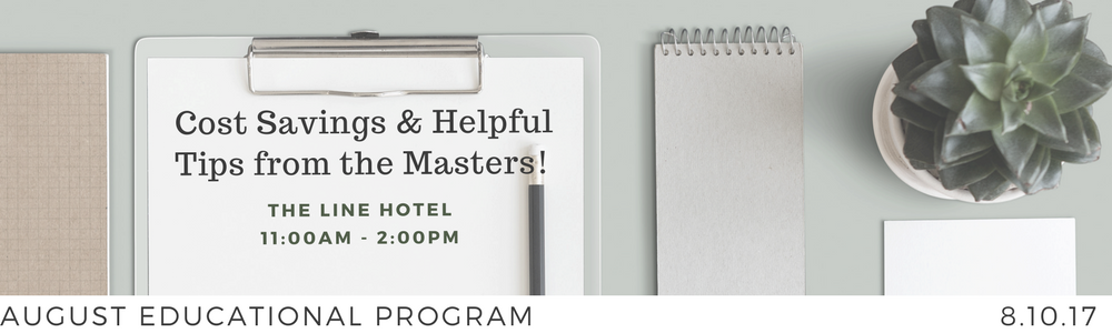 MPISCC August Educational Program - Cost Savings & Helpful Tips from the Masters