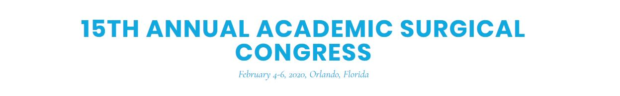15th Annual Academic Surgical Congress (ASC)