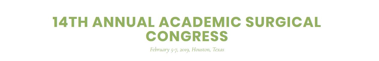 14th Annual Academic Surgical Congress (ASC)