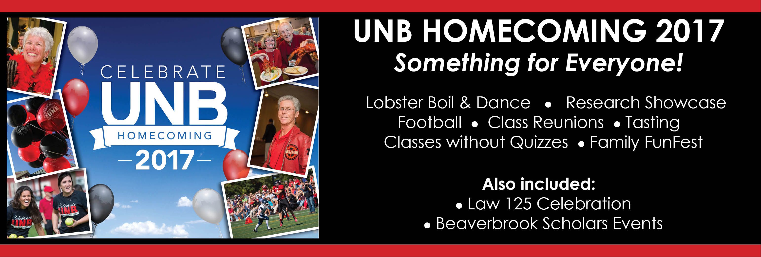Celebrate UNB: Homecoming Weekend 2017