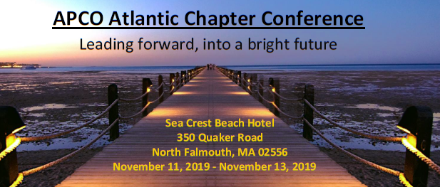 APCO-ATLANTIC CHAPTER 2019  FALL CONFERENCE