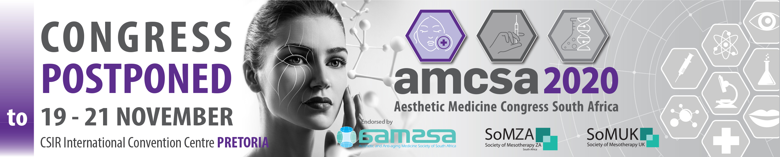 The 15th Aesthetic Medicine Congress of South Africa (AMCSA 2020)