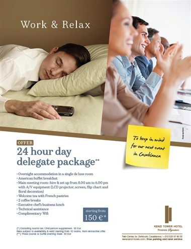 24 Hour Day Delegate Package