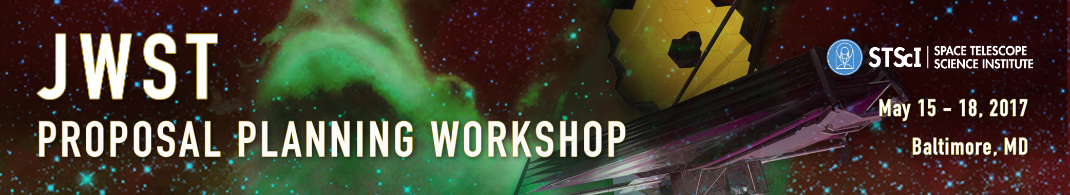 JWST Planning Workshop Agenda Header