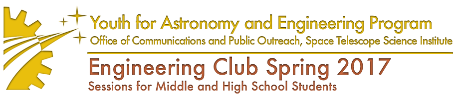 Engineering Club Spring 2017 Session for Middle and High School Students