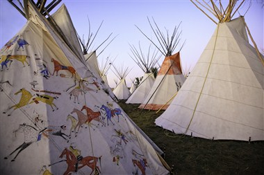 Tipis at Crow Fair