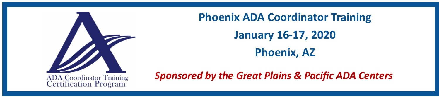 2020 Phoenix ADA Coordinators Training
