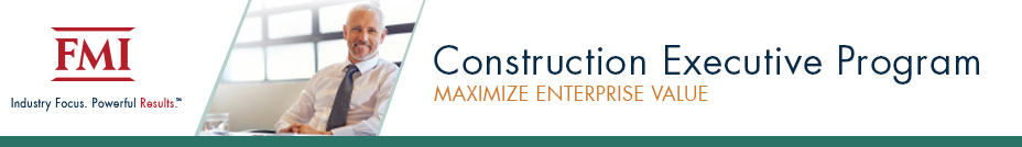 Construction Executive Program | August 7-10, 2018 | Raleigh, North Carolina
