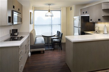 Kitchen Area in One and Two Bedrooms