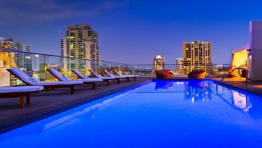 Rooftop Pool - Night