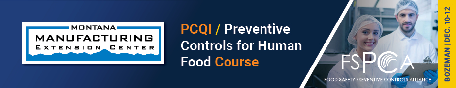 PCQI / Preventive Controls for Human Food Course
