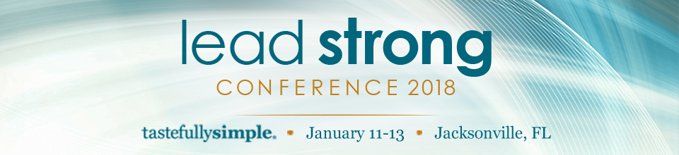 Tastefully Simple Lead Strong 2018 Registration