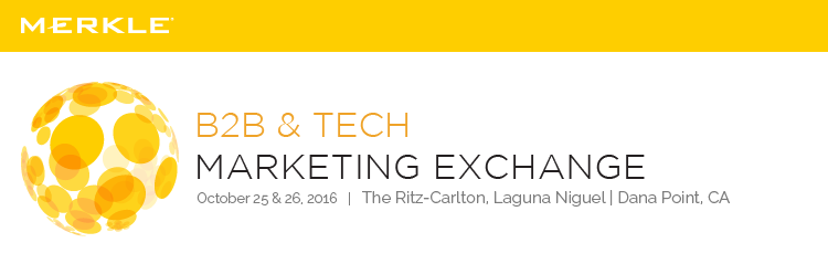 2016 B2B & Tech Marketing Exchange