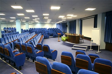 Blue conference hall