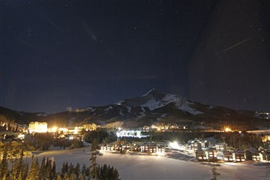 Mountain Village at Night
