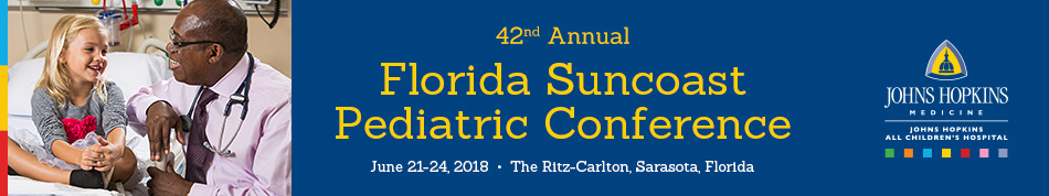 Exhibits for the 42nd Annual Florida Suncoast Pediatric Conference
