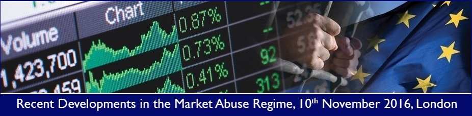 Recent Developments in the Market Abuse Regime 2016