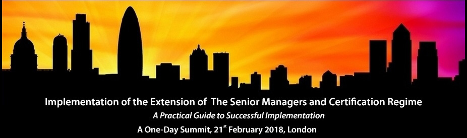 Implementation of the Extension of The Senior Managers and Certification Regime 2018
