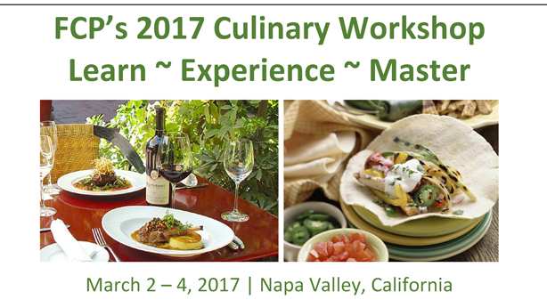 FCP Culinary Workshop - A Masters Course