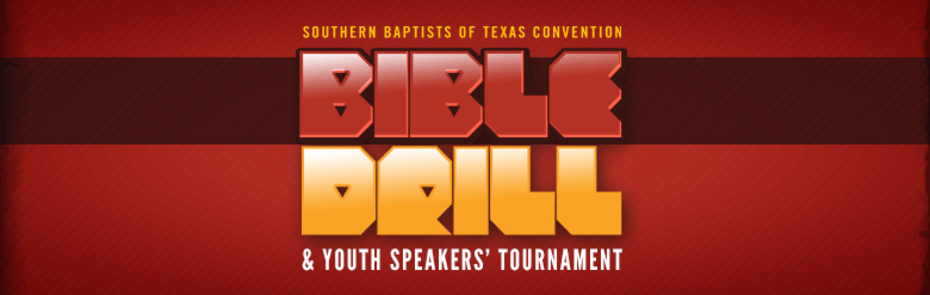Bible Drill Red Banner