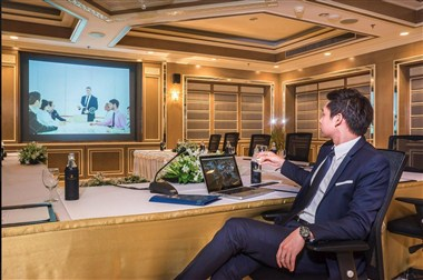 Meeting room with VDO conference technology