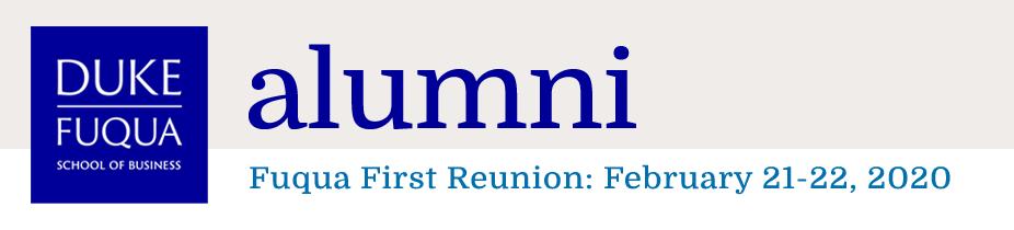 Fuqua First Reunion