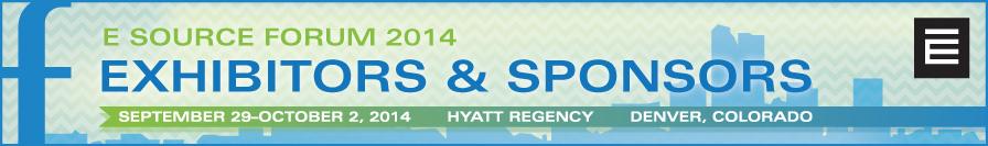 E Source Forum 2014 Exhibitors & Sponsors